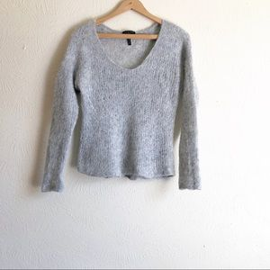 Rag & Bone Freda Gray Alpaca Sweater